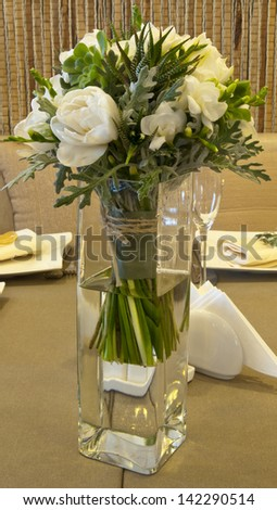Flower decoration for a wedding - stock photo