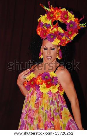 Flower Drag queen. - stock photo