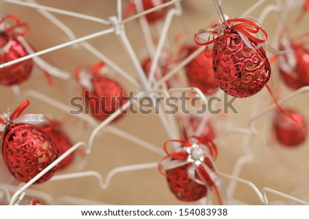 Flower egg. Door gift for Malay Wedding. - stock photo