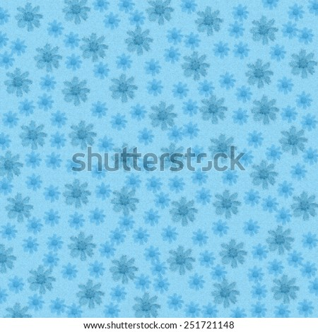 Flower floral abstract background, floral modern pattern on blue background. Flower floral abstract ornament, abstract blue floral pattern, abstract modern flowers background, greeting card pattern.