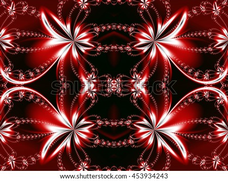 Flower fractal pattern. You can use it for invitations, notebook covers, phone cases, postcards, cards, ceramics, carpets and so on. Artwork for creative design, art and entertainment.