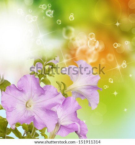 Flower garden border - stock photo