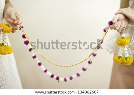 Flower garlands of thai style