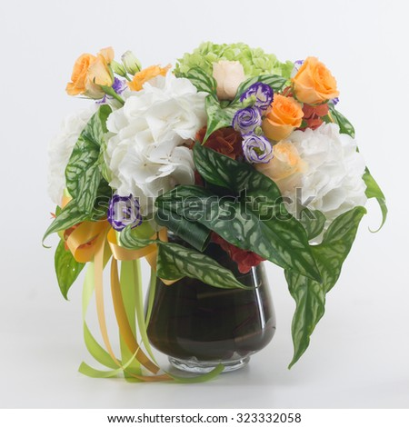 Flower in vase isolated.