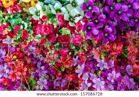 flower of the fabric, floral background. - stock photo
