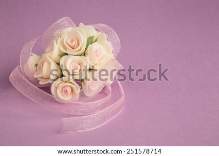 flower on purple - stock photo