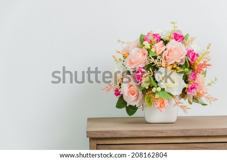Flower on Table bedside - stock photo