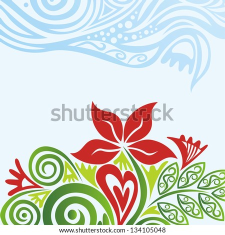 Flower pattern background illustration