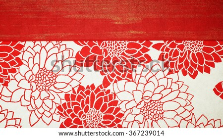 Flower pattern on Japanese paper  for  background - stock photo