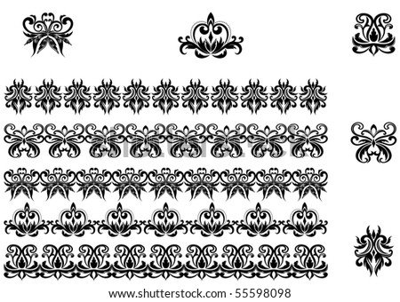 Flower patterns. Vector version also available in gallery