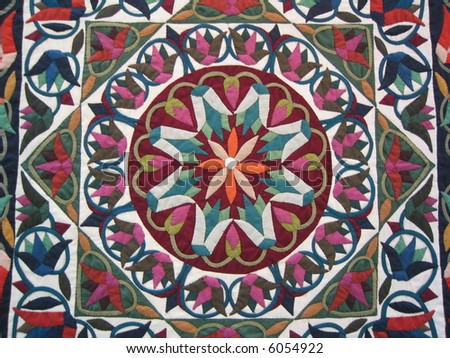 Flower Quilt Pattern - stock photo
