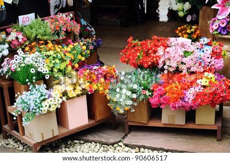 Flower Shop of Thailand - stock photo
