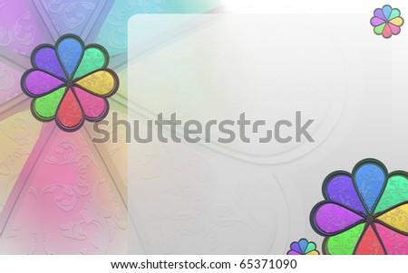 Flower Style Presentation Slide - stock photo
