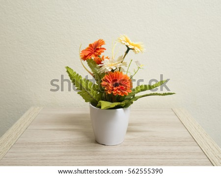 Flower Vase On Table Stock Photo Royalty Free 562555390 Shutterstock