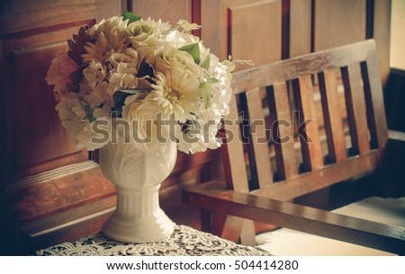 Flower Vase Decoration Items Placed On Stock Photo 504414280 ...