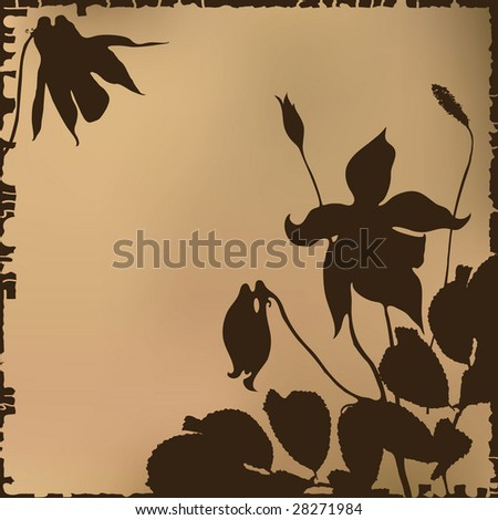 Flower vintage background.