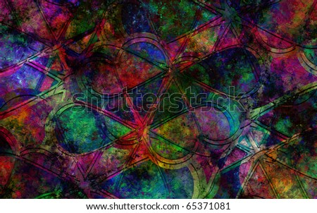 Flower Vitral Color Explosion - stock photo