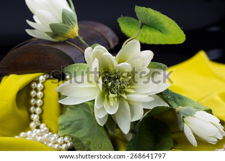 Flower with pearls decoration