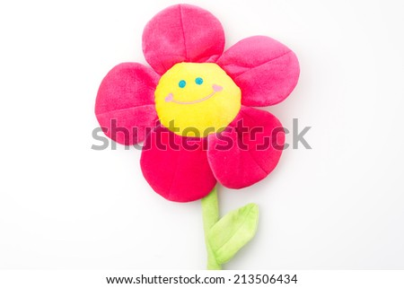 flower with smile face