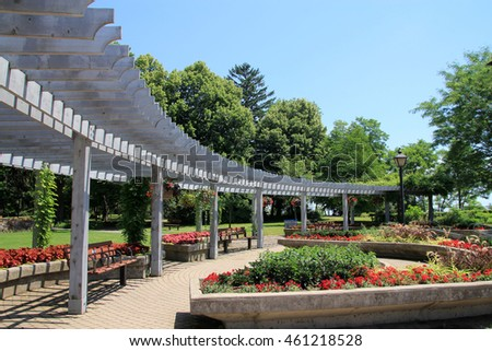 Flowerbeds in the park