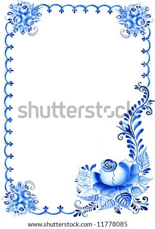flowered background - stock photo