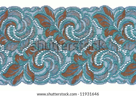 flowered  lace - stock photo