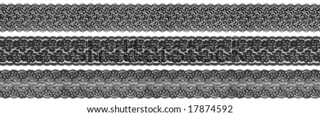 flowered textile black borders on white background