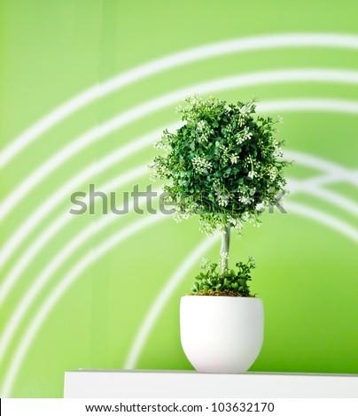 flowerpot - stock photo