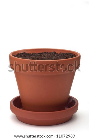 Flowerpot - isolated on white