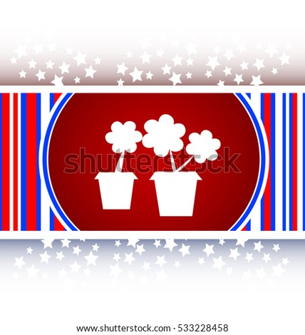 Flowerpot with plant - web icon