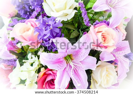 flowers and boquet of flowers