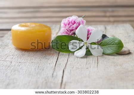 flowers at spa - stock photo