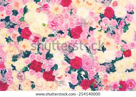 Flowers background, gentle pastel colors