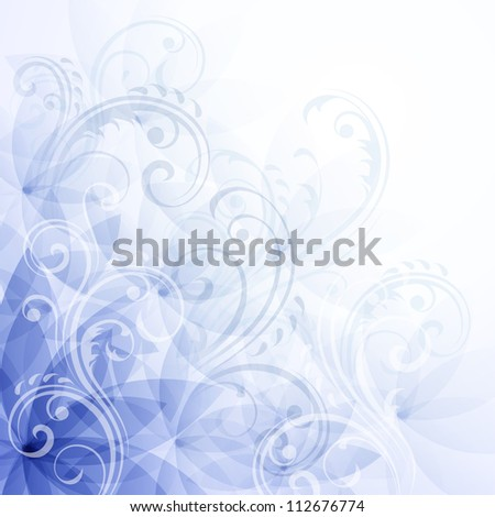 Flowers blue background. Raster version, vector file id: 111185213 - stock photo