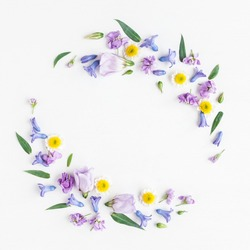 Free flowers stock photos stockvault flowers composition wreath made of various colorful flowers on white background easter spring mightylinksfo