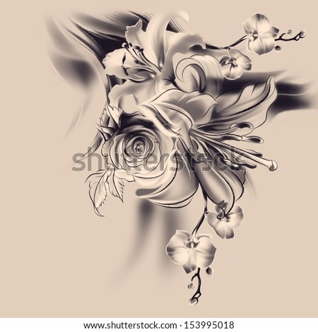 Lily Drawing Stock Images Royalty Free Images Amp Vectors
