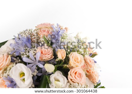 flowers for graduate - stock photo