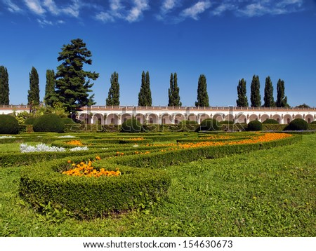 Flowers garden, Czech republic, Kromeriz