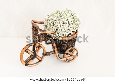 flowers in a basket - stock photo