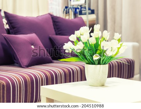 Flowers in a vase - stock photo