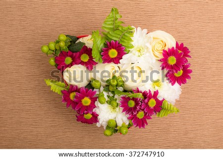 Flowers like a symbol. Creative design of flowers.