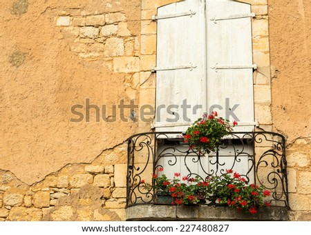 Flowers on a French Balcony