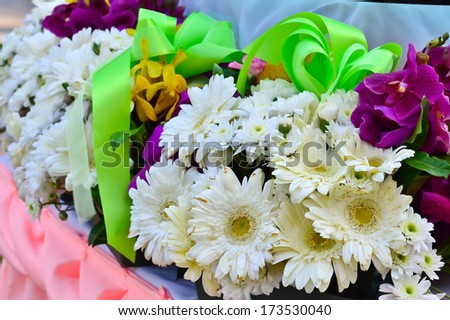 Flowers on the table - stock photo