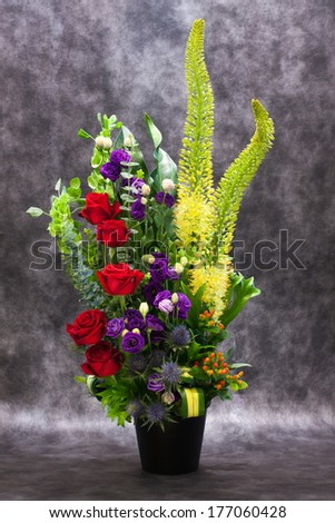 Flowers on the table in a vase - stock photo