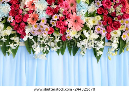 flowers wedding  - stock photo
