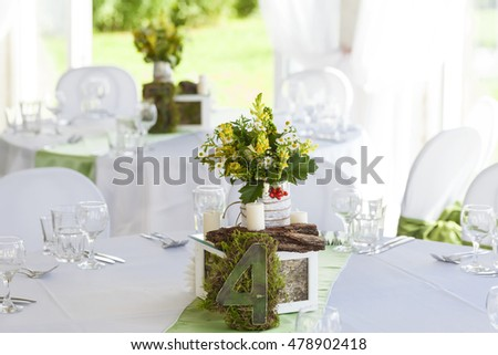 flowers wedding table decoration