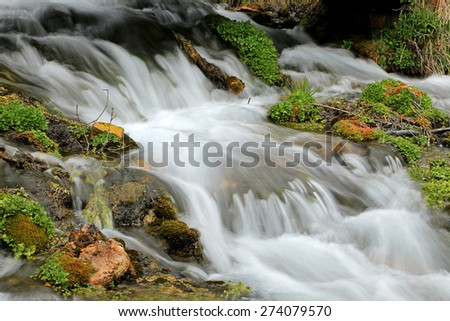 Flowing stream in the Utah mountains, USA. - stock photo