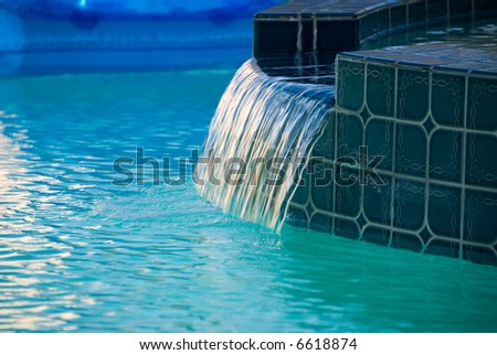 Flowing water. - stock photo