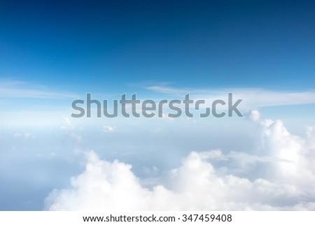 Fluffy clouds in sky, Trinidad, Trinidad And Tobago - stock photo