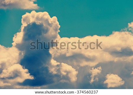 Fluffy clouds in the sky